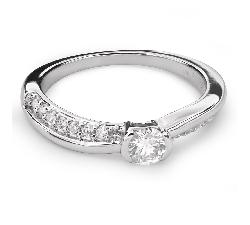 "Помолвочное кольцо с Бриллиантами ""Объятная 30"""