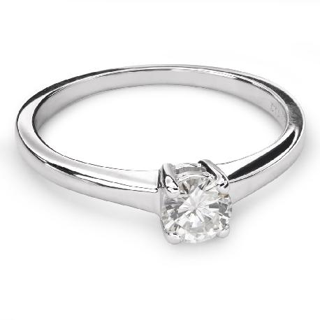 """Золотое кольцо с бриллиантом """"Прочность 97"""""""