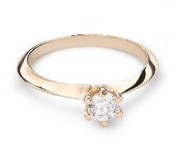 """Помолвочное кольцо с Бриллиантом """"Принцесса 33"""""""