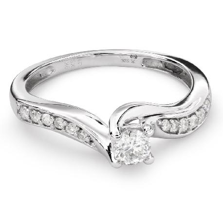 "Помолвочное кольцо с Бриллиантами ""Вихрь 27"""