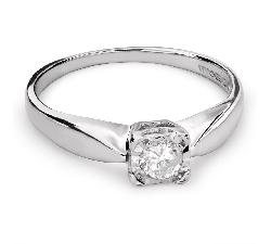 """Помолвочное кольцо с Бриллиантом """"Возлюбленный 102"""""""