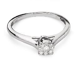 """Помолвочное кольцо с Бриллиантами """"Бриллиантовый цветок 39"""""""