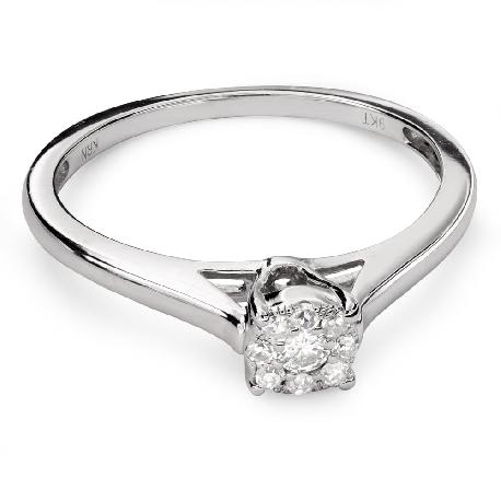 """Saderināšanās gredzens ar Briljantiem """"Briljanta zieds 39"""""""