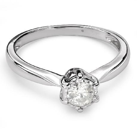 """Помолвочное кольцо с Бриллиантом """"Возлюбленный 104"""""""
