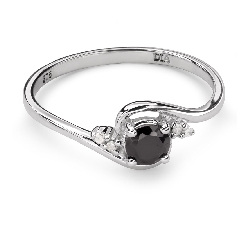 """Золотое кольцо с драгоценными камнями """"Сапфир 25"""""""