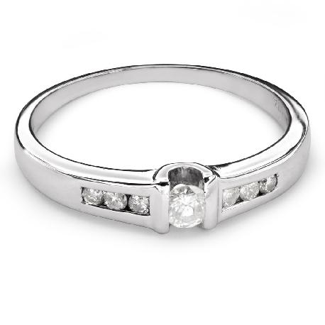 """Помолвочное кольцо с алмазами """"Среди скал 22"""""""