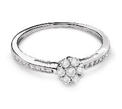 """Помолвочное кольцо с Бриллиантами """"Бриллиантовый букет 48"""""""