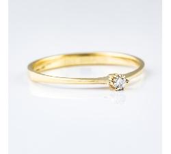 """Sužadėtuvių žiedas su Briliantu """"Klasika 4"""""""