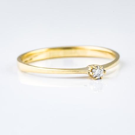 """Saderināšanās gredzens ar briljantu """"Klasika 4"""""""