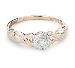 """Золотое кольцо с  Бриллиантом """"Возлюбленный 105"""""""