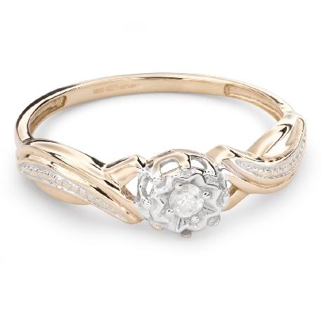 """Zelta gredzens ar Briljantu """"Mīļais 105"""""""