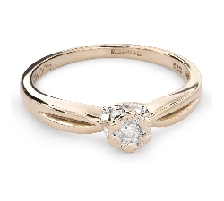 """Золотое кольцо с  Бриллиантом """"Возлюбленный 106"""""""