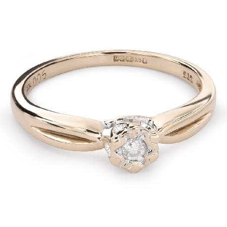 """Zelta gredzens ar Briljantu """"Mīļais 106"""""""