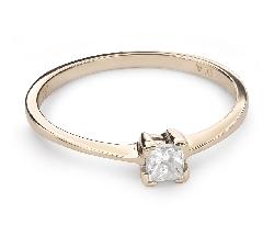 """Помолвочное кольцо с алмазом """"Принцесса 71"""""""
