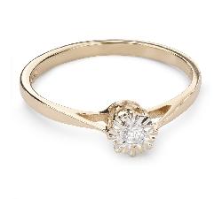 """Золотое кольцо с  Бриллиантом """"Возлюбленный 107"""""""