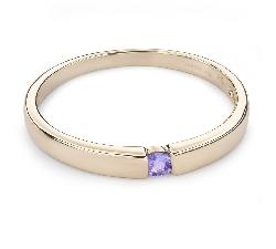 """Золотое кольцо с драгоценными камнями """"Среди скал 25"""""""