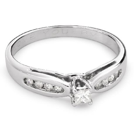"""Помолвочное кольцо с алмазами """"Грациозность 112"""""""
