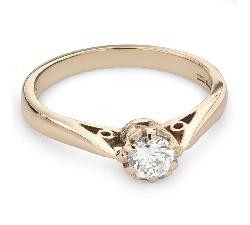"""Помолвочное кольцо с Бриллиантом """"Единственная 100"""""""
