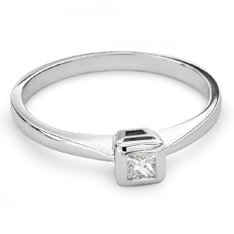 """Помолвочное кольцо с Aлмазом """"Принцесса 73"""""""