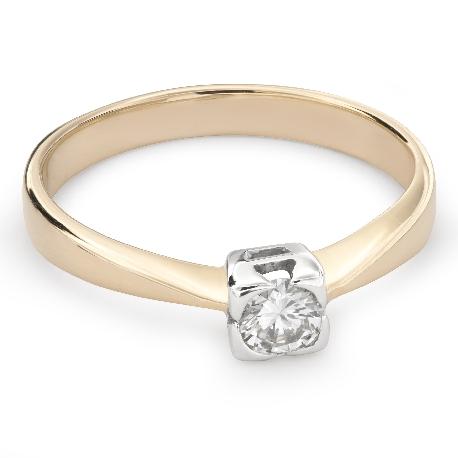 """Помолвочное кольцо с Aлмазом """"Прочность 98"""""""
