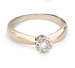 """Помолвочное кольцо с Бриллиантом """"Единственная 103"""""""