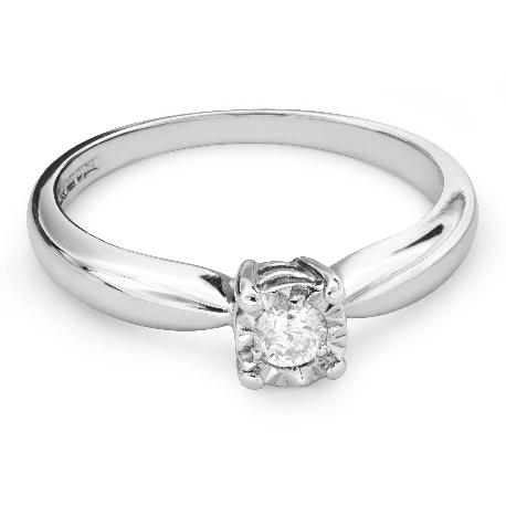 """Помолвочное кольцо с Бриллиантом """"Возлюбленный 109"""""""