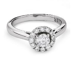 """Помолвочное кольцо с Бриллиантами """"Бриллиантовый цветок 41"""""""