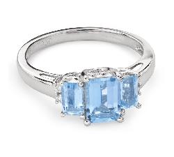 """Золотое кольцо с драгоценными камнями """"Трилогия 32"""""""