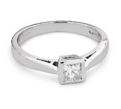 """Saderināšanās gredzens ar Dimantu """"Princese 74"""""""