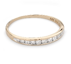 """Золотое кольцо с Бриллиантами """"Алмазная полоска 49"""""""