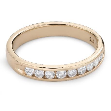 """Золотое кольцо с Бриллиантами """"Алмазная полоска 50"""""""
