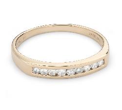 """Золотое кольцо с Бриллиантами """"Алмазная полоска 51"""""""