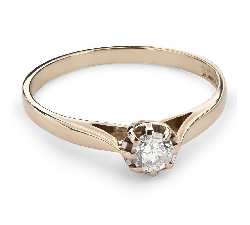 """Помолвочное кольцо с Бриллиантом """"Возлюбленный 112"""""""