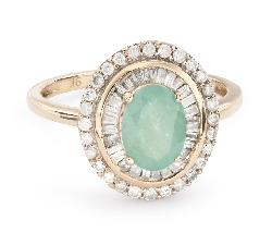 """Zelta gredzens ar dārgakmeņiem """"Krāsas 56"""""""