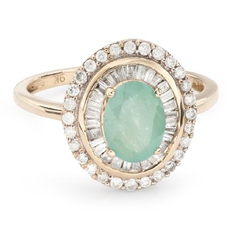 """Золотое кольцо с драгоценными камнями """"Краски 56"""""""