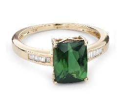 """Zelta gredzens ar dārgakmeņiem """" Krāsas 411"""""""