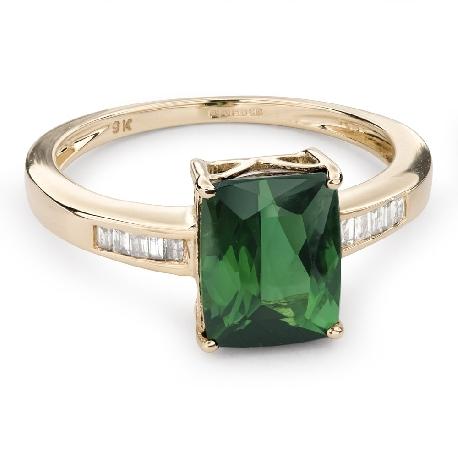"""Золотое кольцо с драгоценными камнями """"Краски 62"""""""