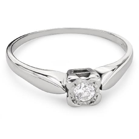 """Помолвочное кольцо с Бриллиантом """"Прочность 100"""""""