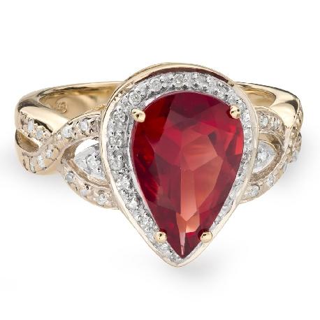 """Золотое кольцо с драгоценными камнями """"Краски 50"""""""
