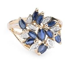 """Помолвочное кольцо с драгоценными камнями """"Краски 51"""""""