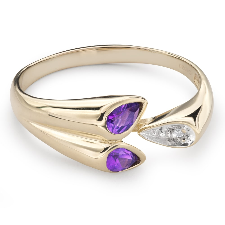 """Помолвочное кольцо с драгоценными камнями """"Краски 52"""""""