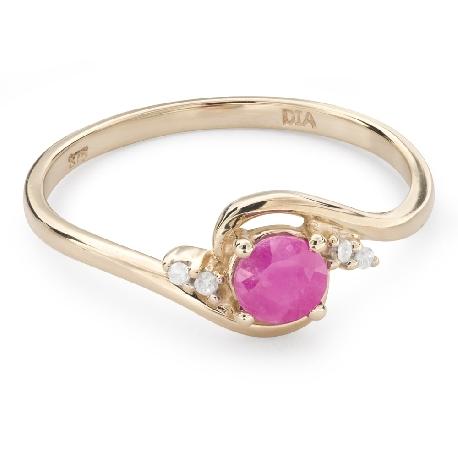 """Zelta gredzens ar dārgakmeņiem """"Rubīns 42"""""""