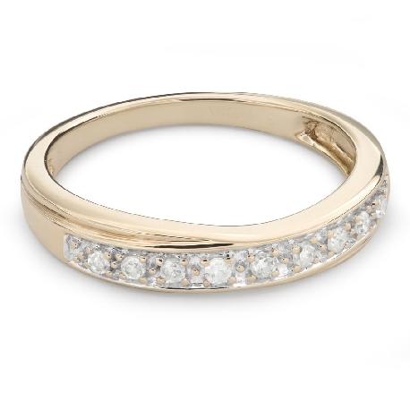 """Золотое кольцо с Бриллиантами """"Алмазная полоска 52"""""""