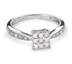 """Zelta gredzens ar Dimantiem """"Mīļais 47"""""""