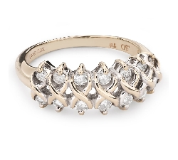 """Золотое кольцо с Бриллиантами """"Бриллиантовый цветок 49"""""""