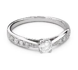 """Помолвочное кольцо с Бриллиантами """"Грациозность 115"""""""