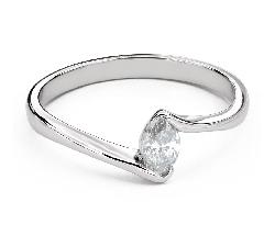 """Помолвочное кольцо с Бриллиантом """"В объятиях любви 41"""""""