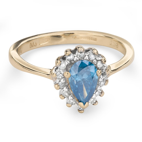 "Zelta gredzens ar Dimantiem ""Krāsas 61"""