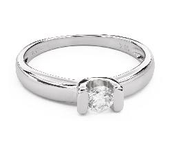 """Помолвочное кольцо с Бриллиантом """"В объятиях любви 42"""""""