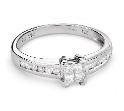 """Saderināšanās gredzens ar Dimantiem """"Princeses 49"""""""